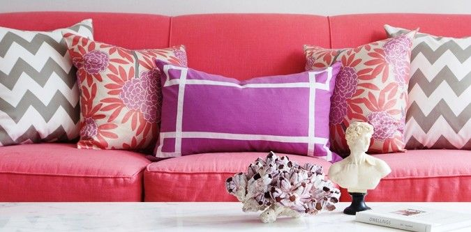Greige Zabeel Chevron, Berry Fleur Chinoise and Berry Signature ...