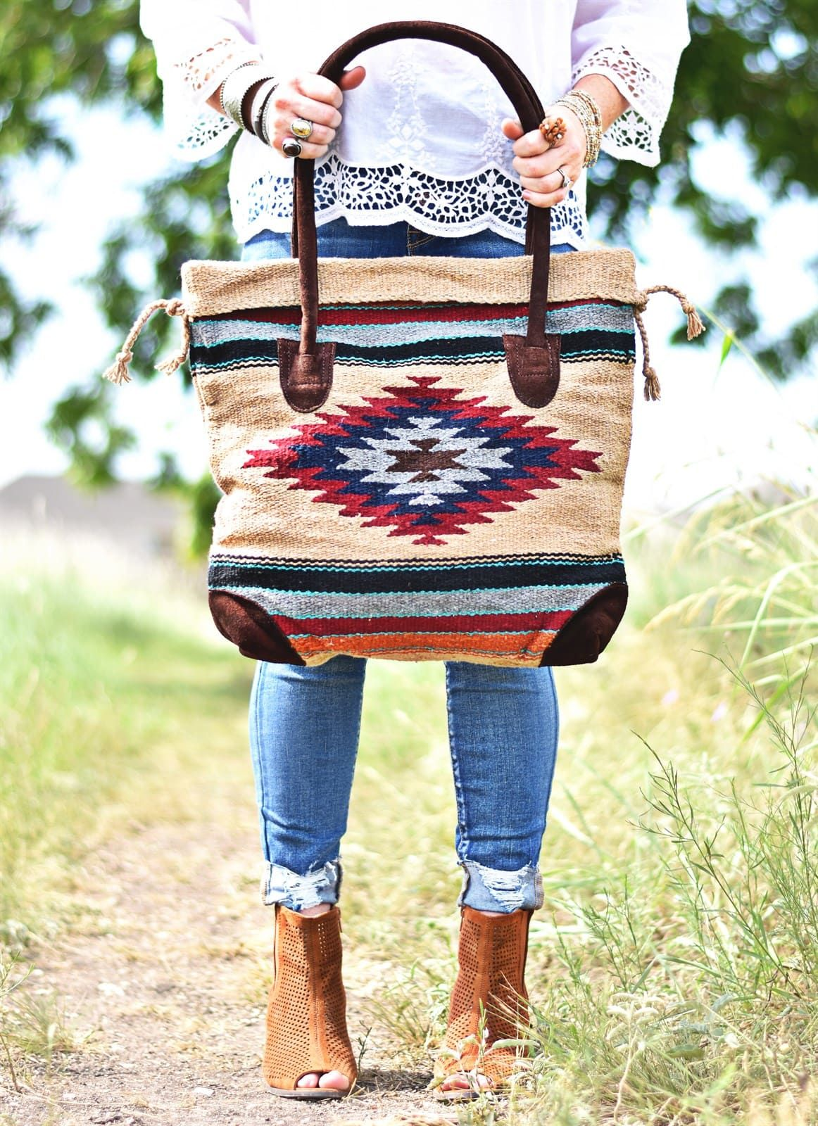 288ce190a4ef71 South West Tribal Tote Bag in 2019 | Bags & Handbags | Bags, Tribal ...