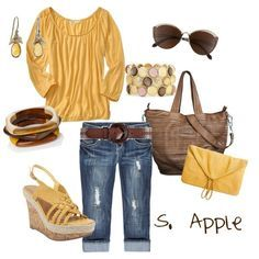 Sunflowers, created by sapple324 on Polyvore