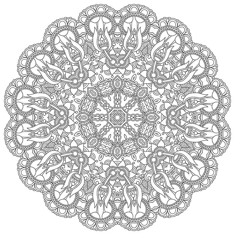 High Resolution Mandala Coloring Image For Stress Relief Free Download (PDF  Format) Hap… Mandala Coloring, Abstract Coloring Pages, Mandala Coloring  Pages