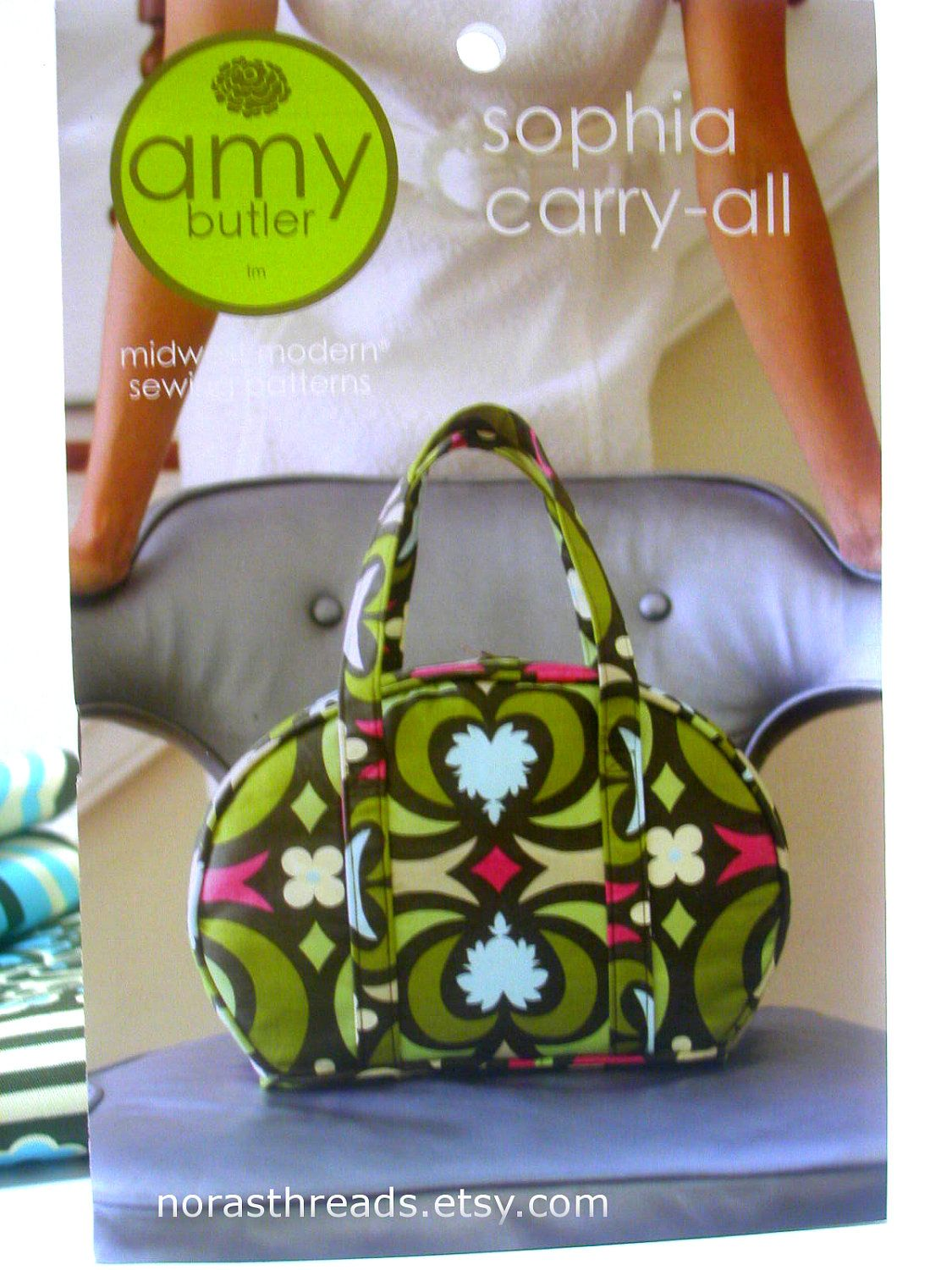 Amy Butler Bag Patterns Sophia Carryall Pattern By Norasthreads On Etsy