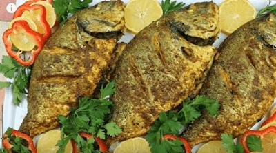 سمك دنيس المحشي والمشوي في الفرن Food Meatloaf Fish