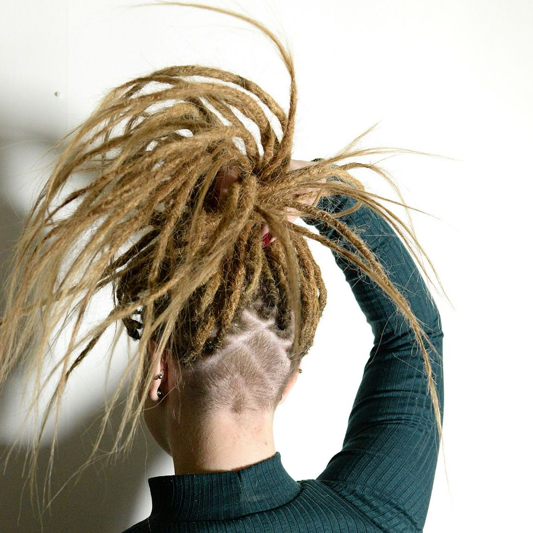 Look at this great shave and dreadlocks really like the style that