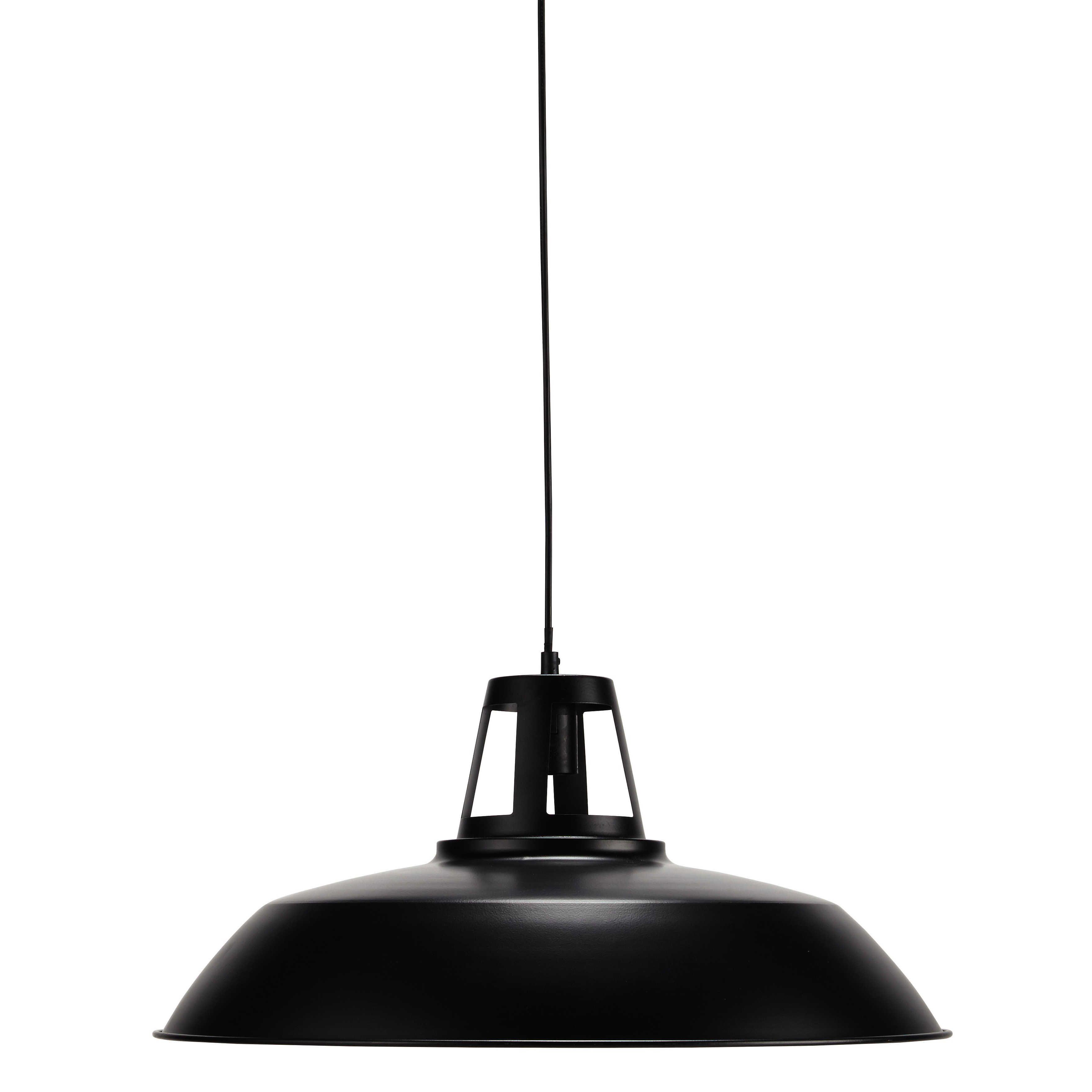 Suspension en métal noire D 56 cm JAMES salon