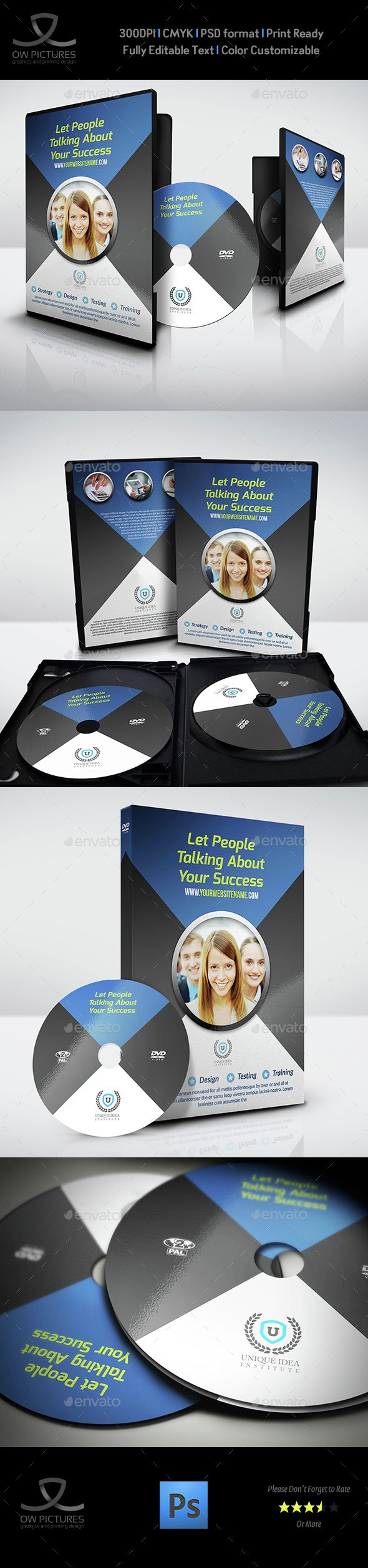 Corporate Dvd Cover And Label Template  Template Cd Cover