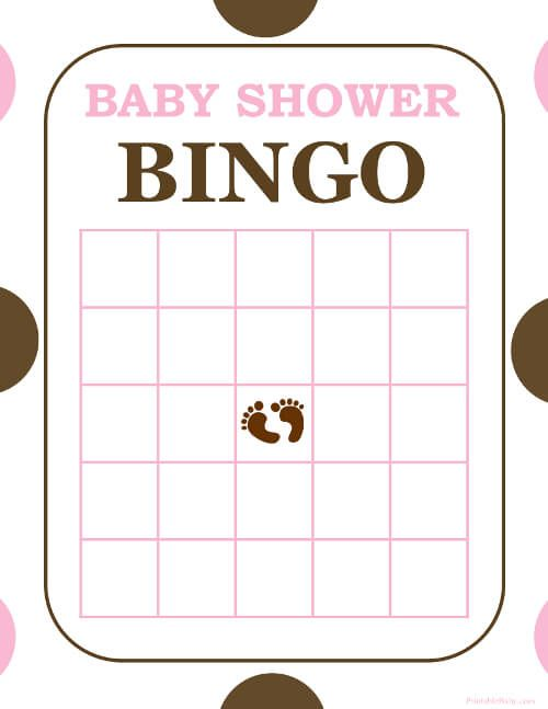 BabyBingo  Free And Printable Baby Shower Bingo Card  Baby