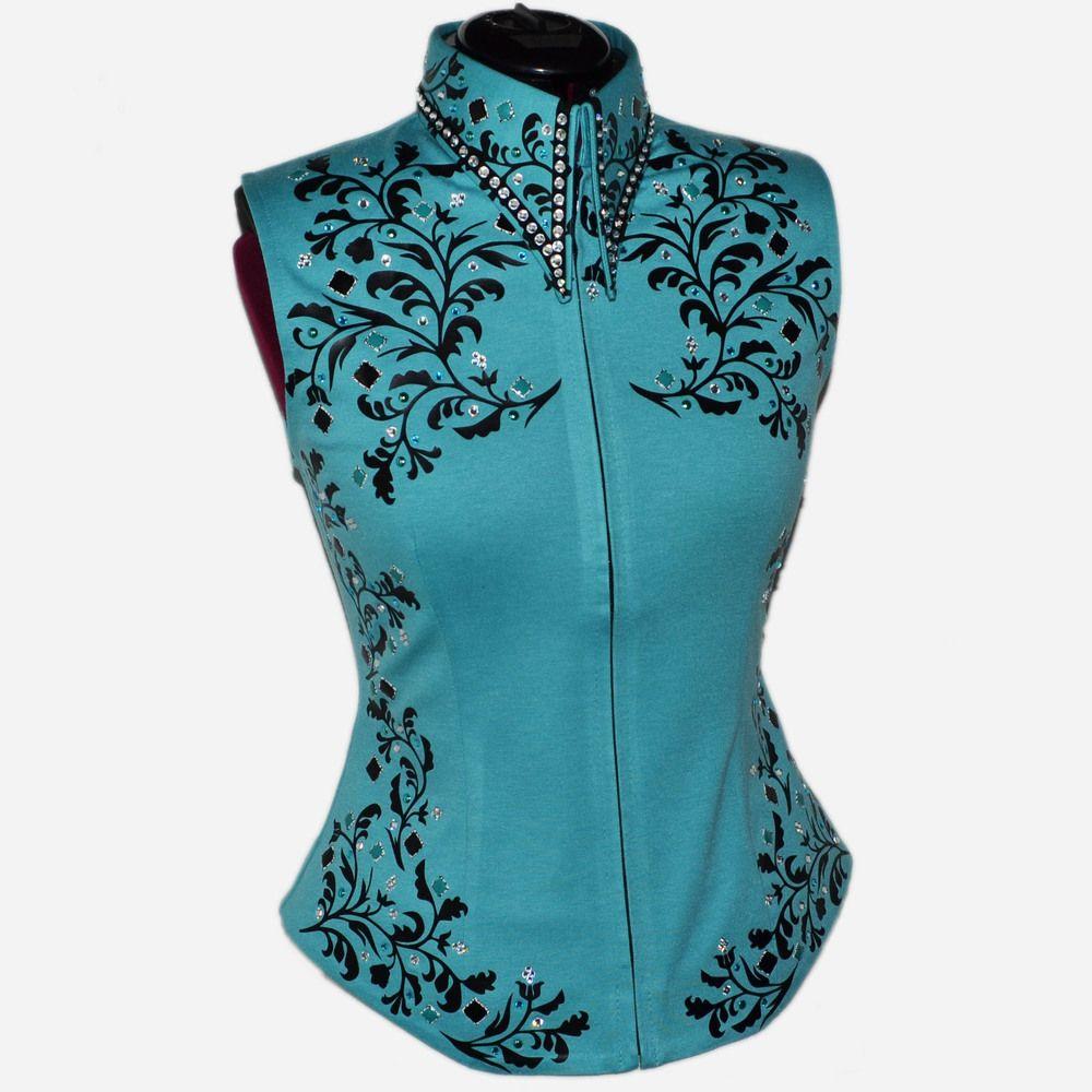 Lisa Nelle Show Clothing — Turquoise Vest XXS-2X