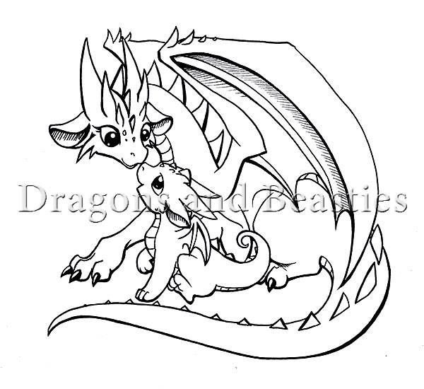 Mother And Baby By Dragons Beasties Baby Dragon Art Cute Dragon Drawing Dragon Drawing