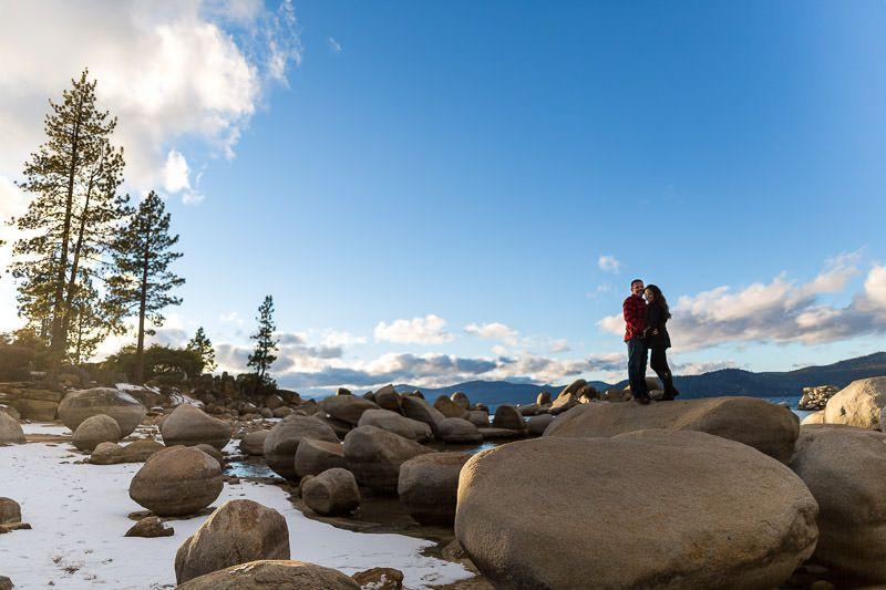 Sand Harbor Engagement Session in Lake Tahoe by Tim Halberg Photography. #SandHarbor #LakeTahoeWedding #DestinationWeddingPhotographer
