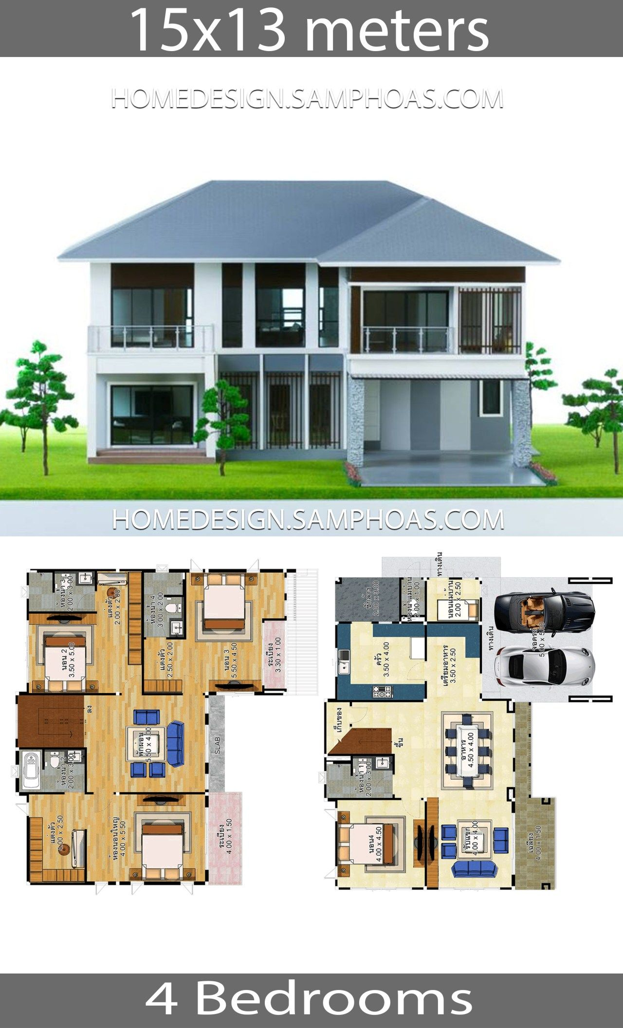 House Plans Idea 15x13 With 4 Bedrooms Home Ideas House Plans House Layout Plans Modern House Plans