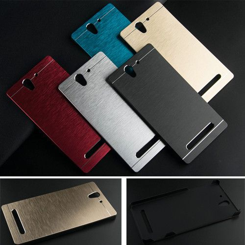 low priced 2c076 576b3 Luxury Brushed Metal Aluminium PC material case For Sony Xperia C3 ...