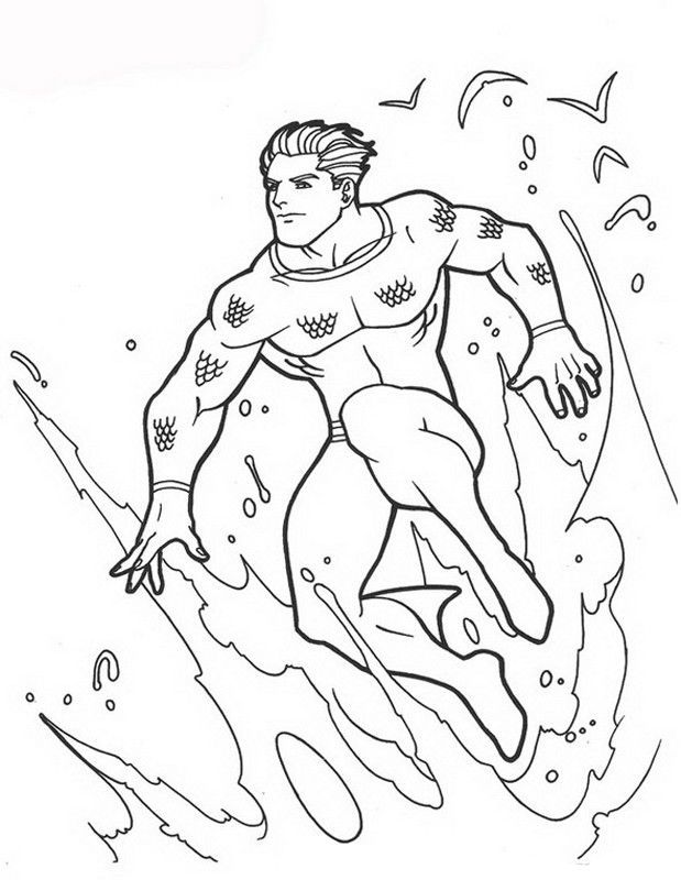 aquaman coloring pages # 5