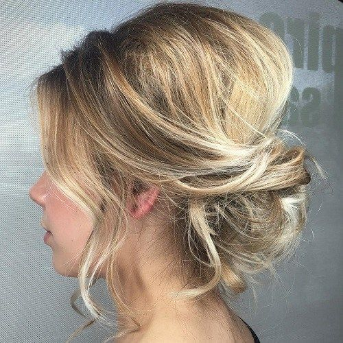 Easy and Cute Hair Updo Ideas Updo with Bangs: Blonde Updo ...