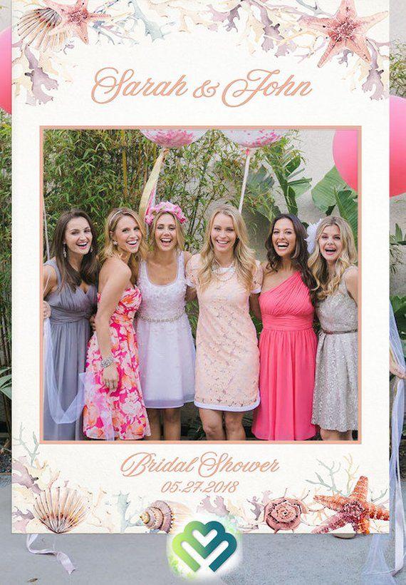 Beach Bridal Shower Photo Booth Frame Props Birthday Decor Photo