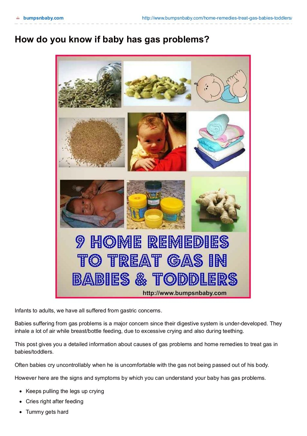 9 home remedies to treat gas in babies and toddlers by Sangeetha R Menon via slideshare