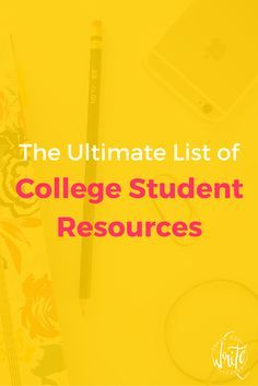 In this ultimate list of college student resources, you can easily find information relating to a variety of topics, such as financial aid, getting good grades, and campus life.