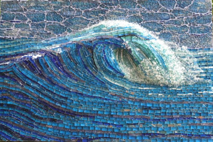 My Wave By Inge Gardner W O W All Made With Glass Mosaic Arte