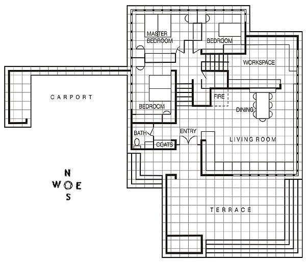 frank lloyd wright floor plans frank lloyd wright small floor plans mcm house. Black Bedroom Furniture Sets. Home Design Ideas