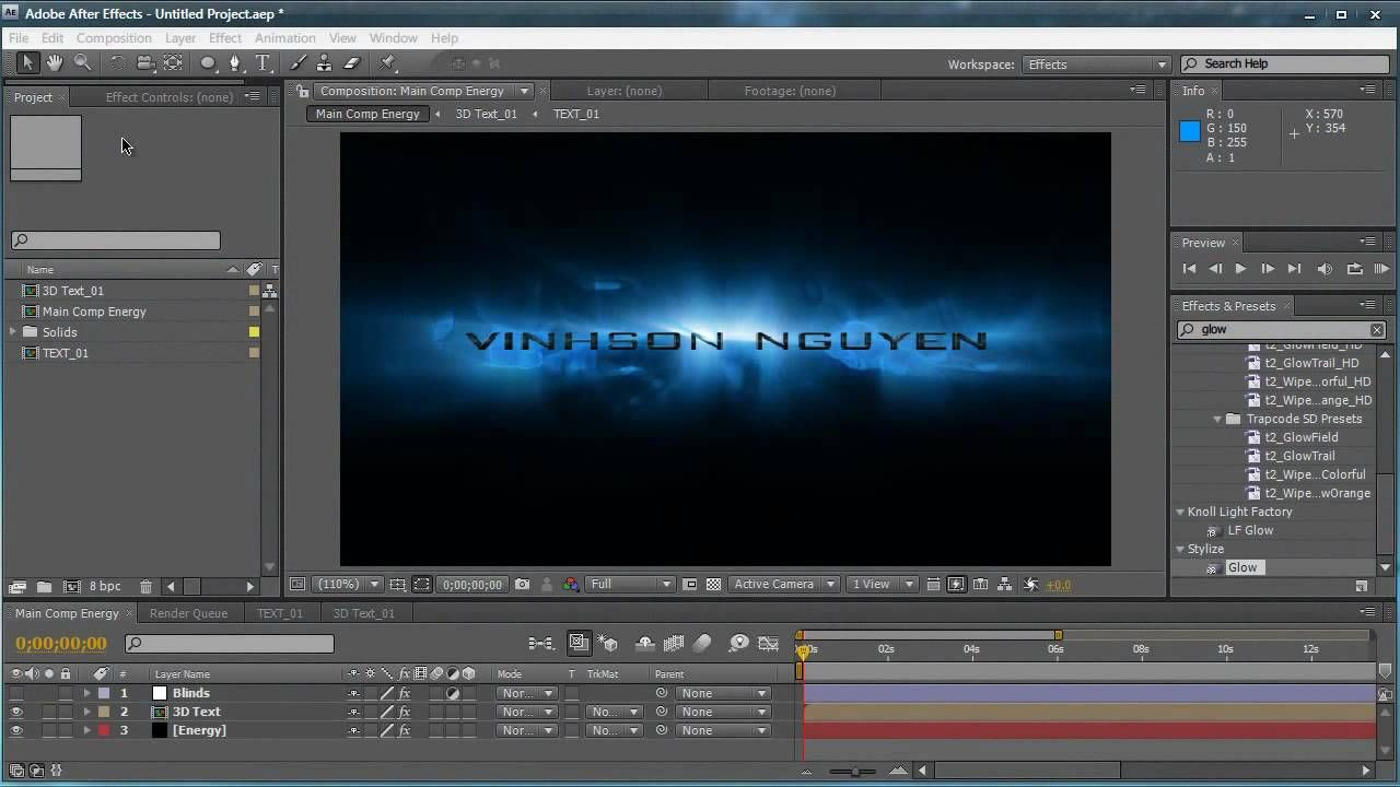 Pretty 3d Text Template After Effects Images >> Orange 3d Text Intro ...