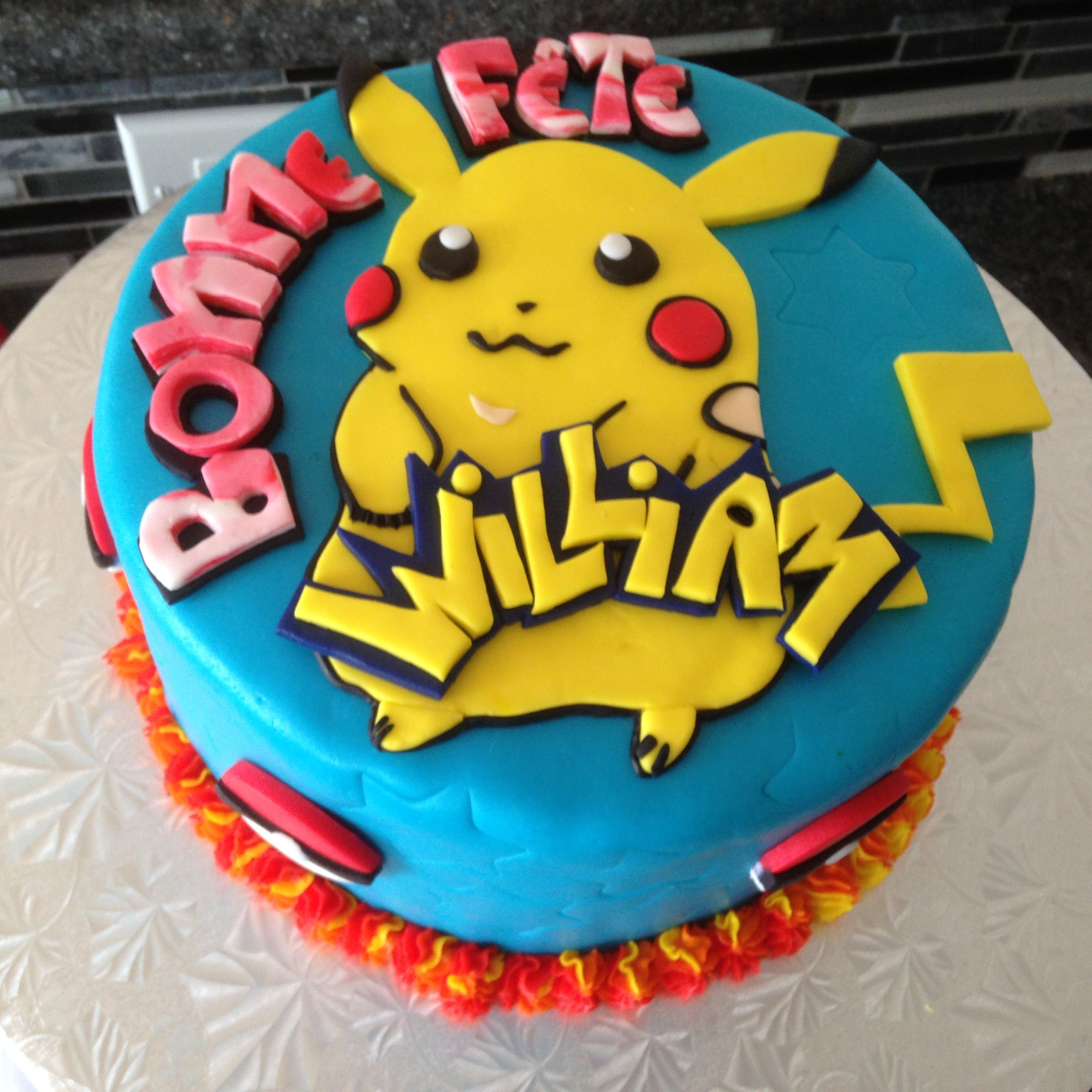 Picachu cake Fun Kids Birthday cakes Pinterest Cake Birthday