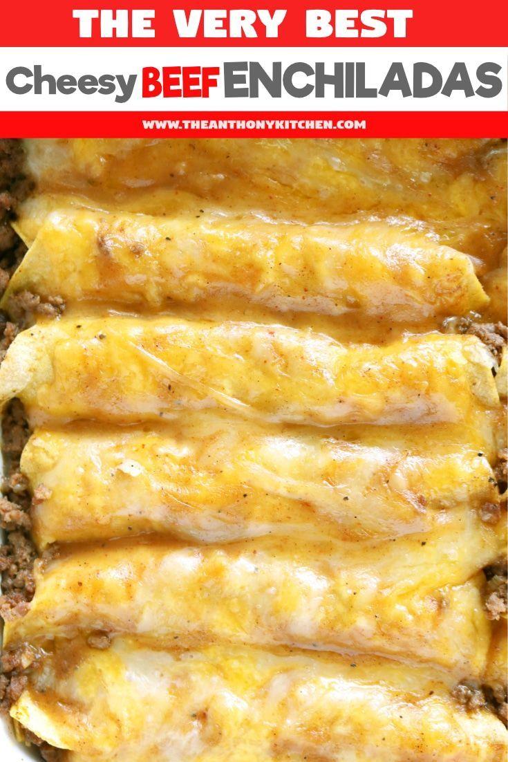Tex-Mex Beef Enchiladas | Recipe #food
