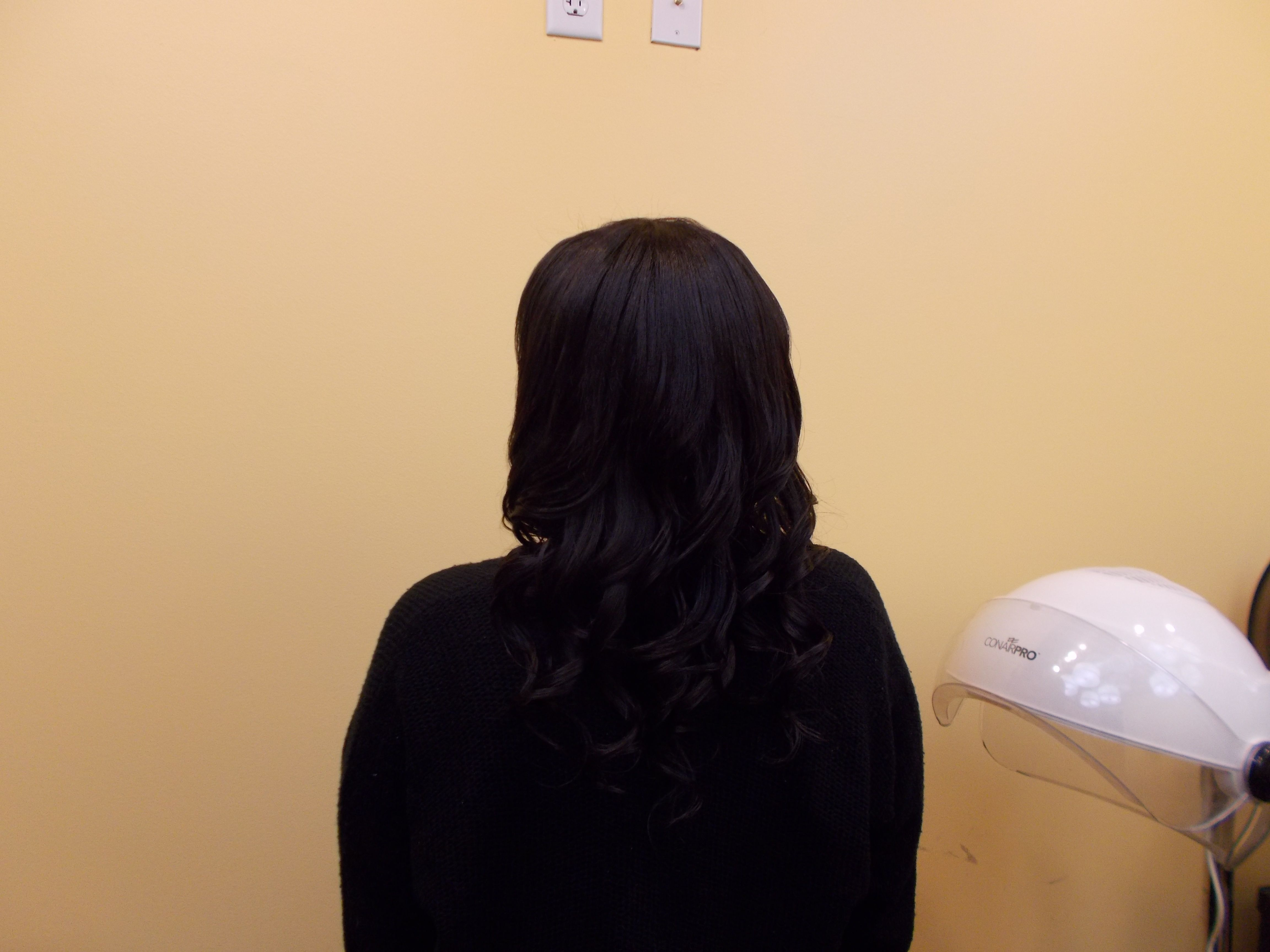 Braidless sew in hair extensions after.....call for a consultation at 407 507 3000...Prices start at $250 for a full head with 100% brazalian remy hair included