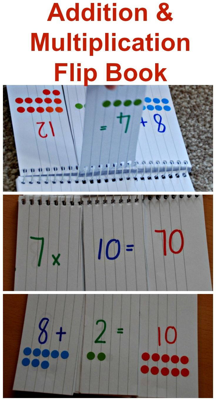 Addition and Multiplication Home-made flip books | For the Classroom ...