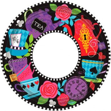Have a Mad Hatter Tea Party with these vibrant fun paper plates! 8 plates per  sc 1 st  Pinterest & Have a Mad Hatter Tea Party with these vibrant fun paper plates! 8 ...