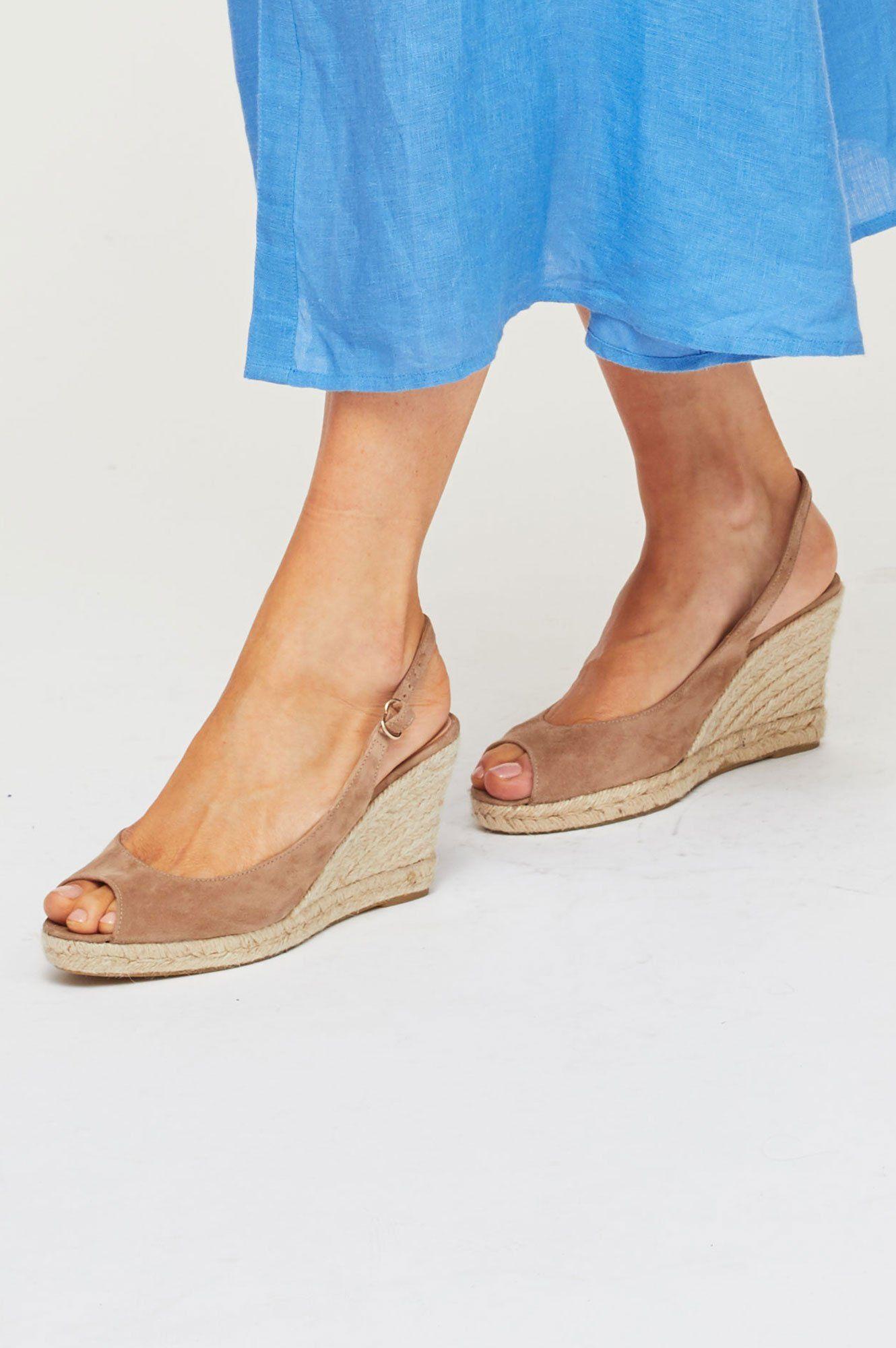 4068cfb0b9d Mykonos Peep Toe Espadrilles   Almond in 2019   Summer clothes ...