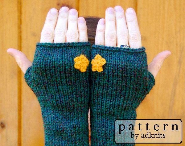 Fingerless Mitten Knitting Pattern Womens Mittens Gloves Long