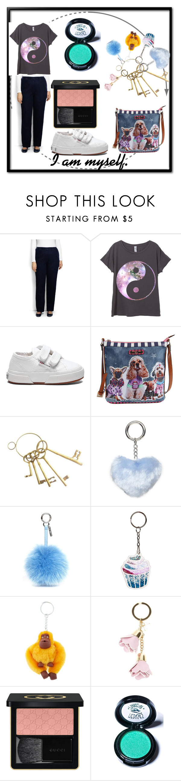 """""""An outfit I'd really wear"""" by buttercreamkisses ❤ liked on Polyvore featuring Lands' End, Superga, Nicole Lee, Dorothy Perkins, Fendi, New Look, Kipling, Gucci and Medusa's Makeup"""