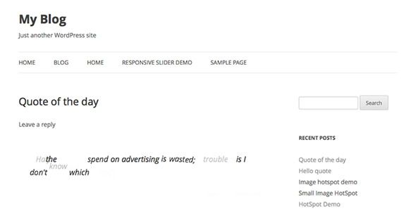 Responsive Animate Quote Rotator WordPress Plugin  This plugin help