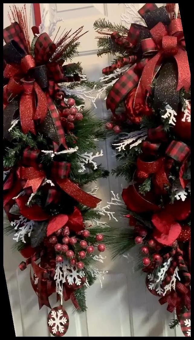 Swags de noël lot de 2 38 | christmas tree decorat