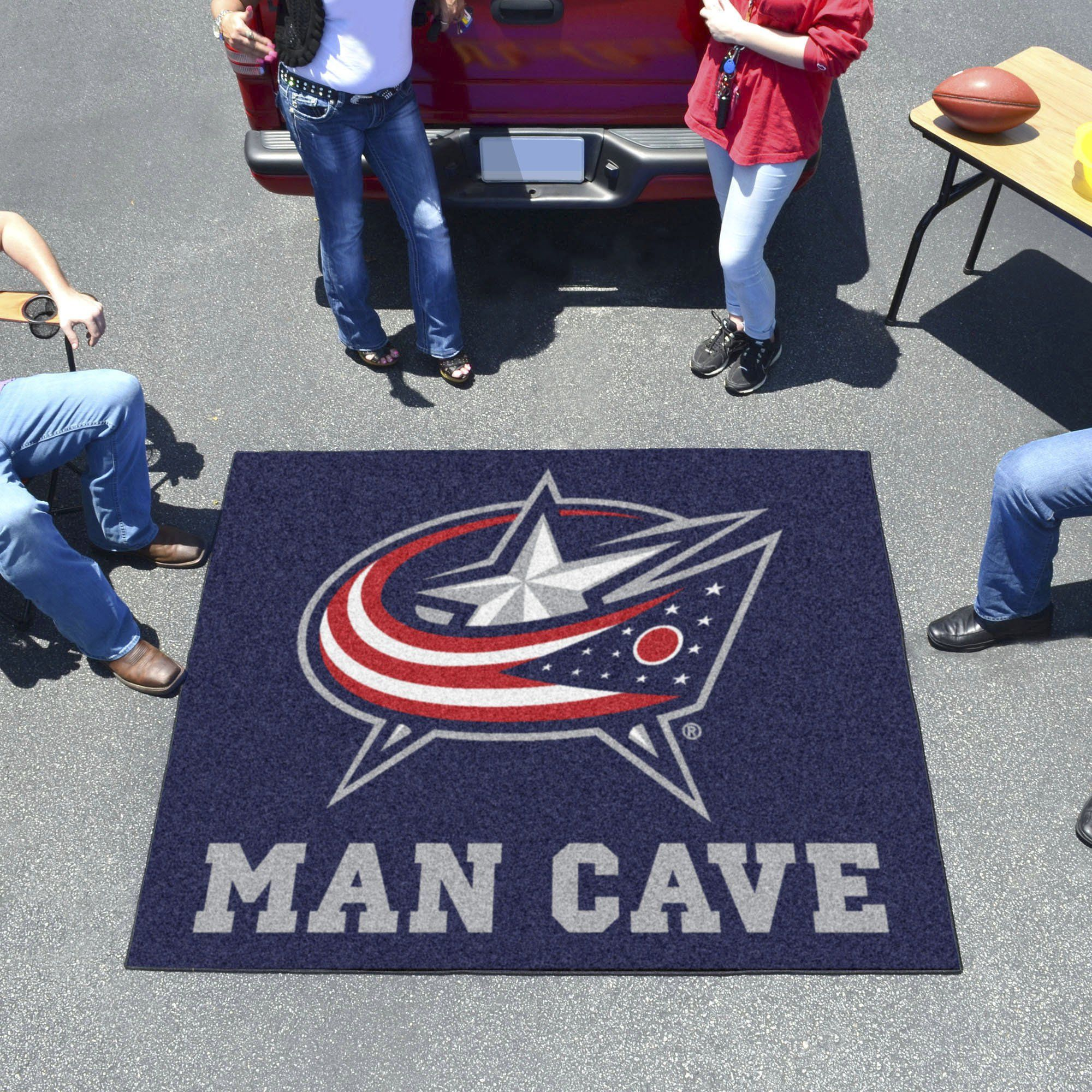 NHL - Columbus Blue Jackets Man Cave Tailgater Rug 5'x6'