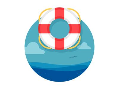 Lifesaver Illustration Design Life Savers Logo Design