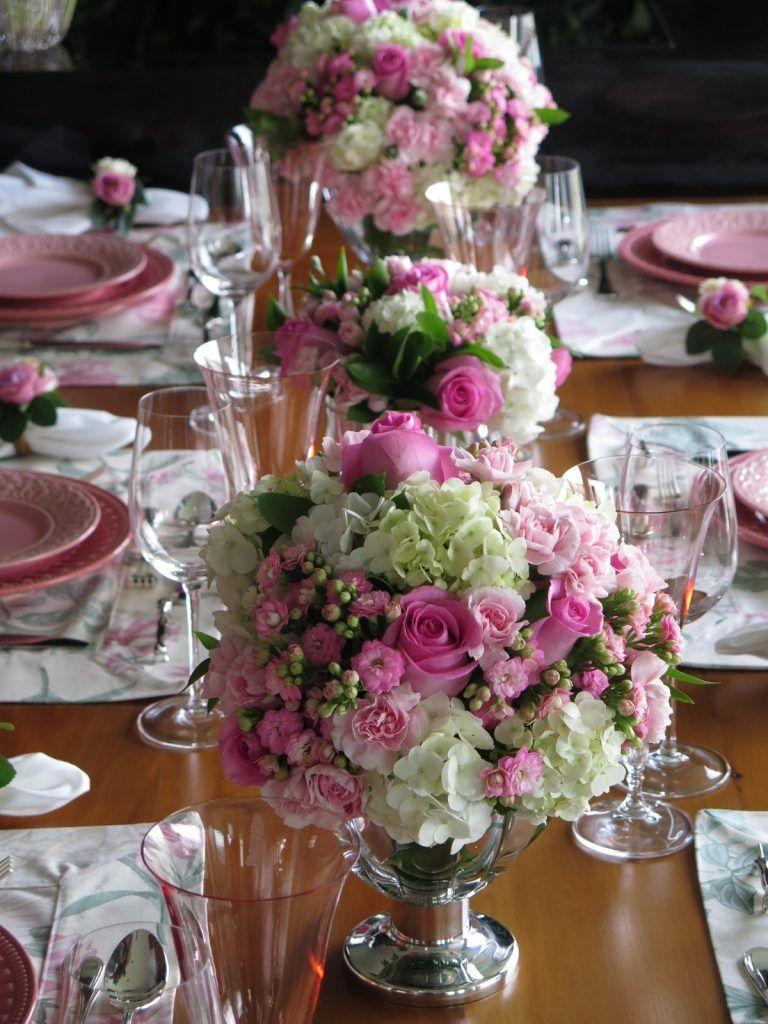 Almoço em homenagem ao Outubro Rosa Mesa Posta Mesas de boda, Decoraciones de mesa e  -> Decoração Mesa Outubro Rosa
