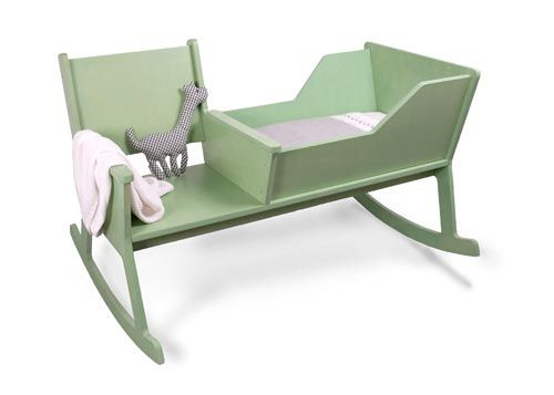 Rocking Chair Cradle -- Love this one, too. A father-to-be with decent woodworking skills could easily make this.