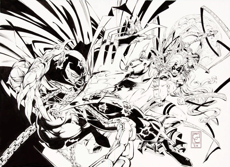Spawn v Angela by Greg Capullo \'94 (Image comics) | COMIX+ Black ...