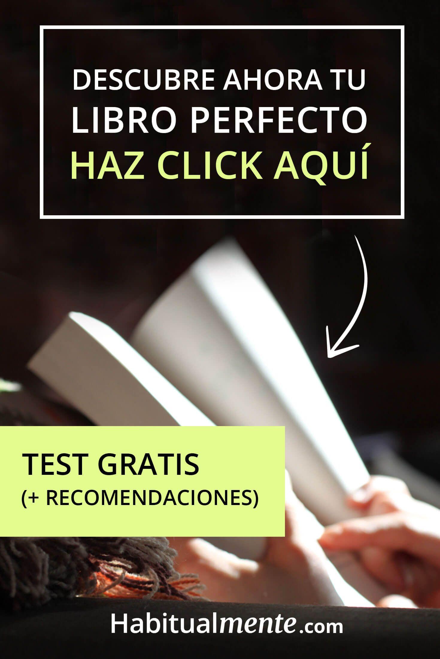 Aquí podrás hacer un test gratis para descubrir cuál es el libro perfecto para  ti 66250cfe399