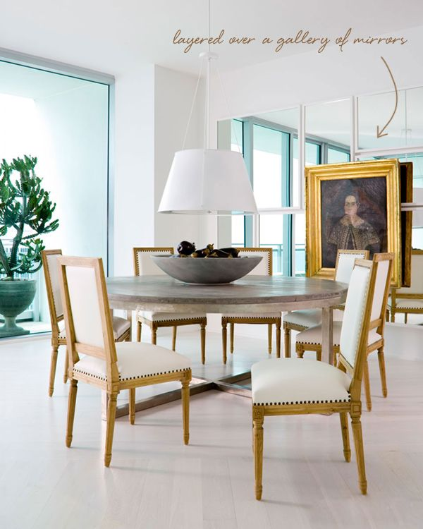 In The Details Layered Art Over Mirrors Elle Decor Coco Kelley