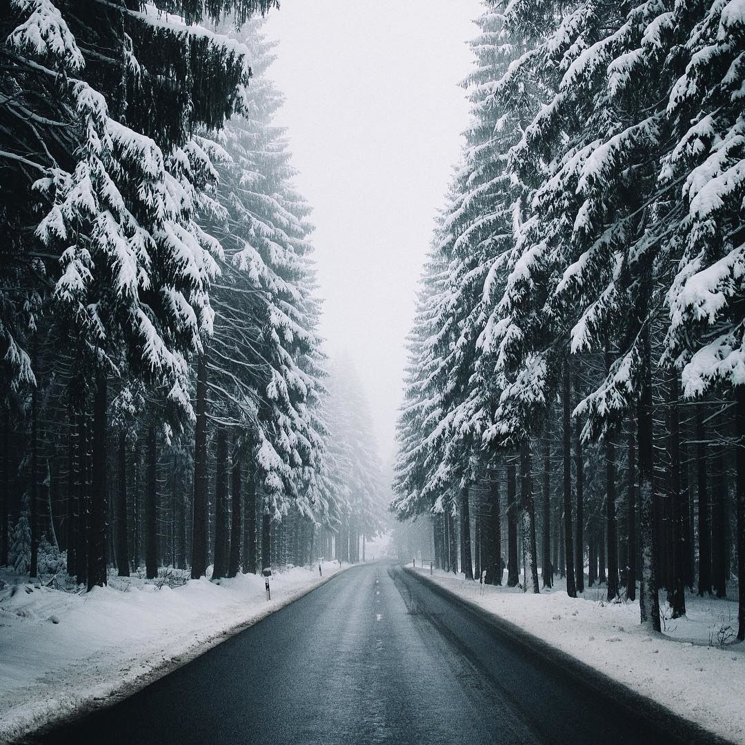 Road Winter City Snow Nature Photography In 2019