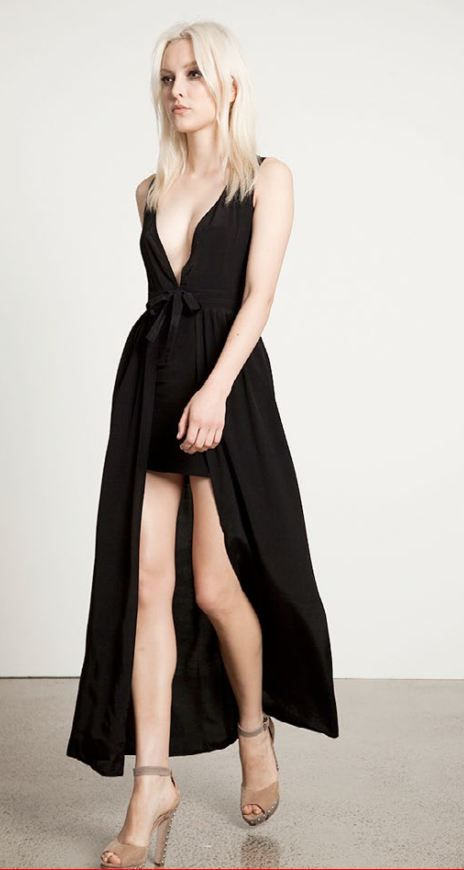 May the label gertrude dress black $139.00
