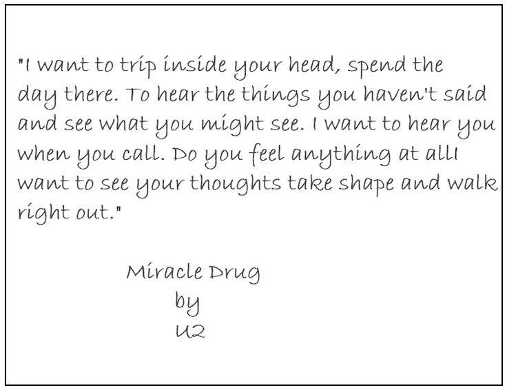 U2 / Miracle Drug   LYRICAL POETRY   Music lyrics, U2 lyrics