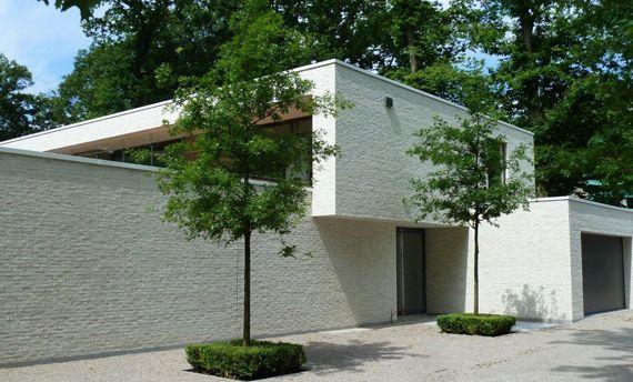 Gevelsteen hogevest wit brique blanche hogevest gevelste - Brique decorative blanche ...