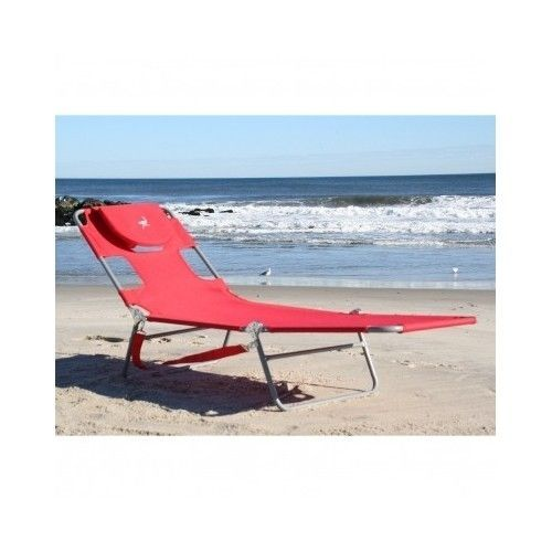 Chaise Lounge Chair Outdoor Beach Patio Pool Sunbathing Folding Ostrich Red  Sun #Ostrich