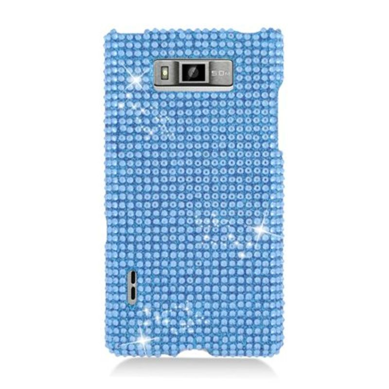 Insten Hard Snap-on Rhinestone Bling Case Cover For LG Splendor US730 / Venice LG730 #2329965