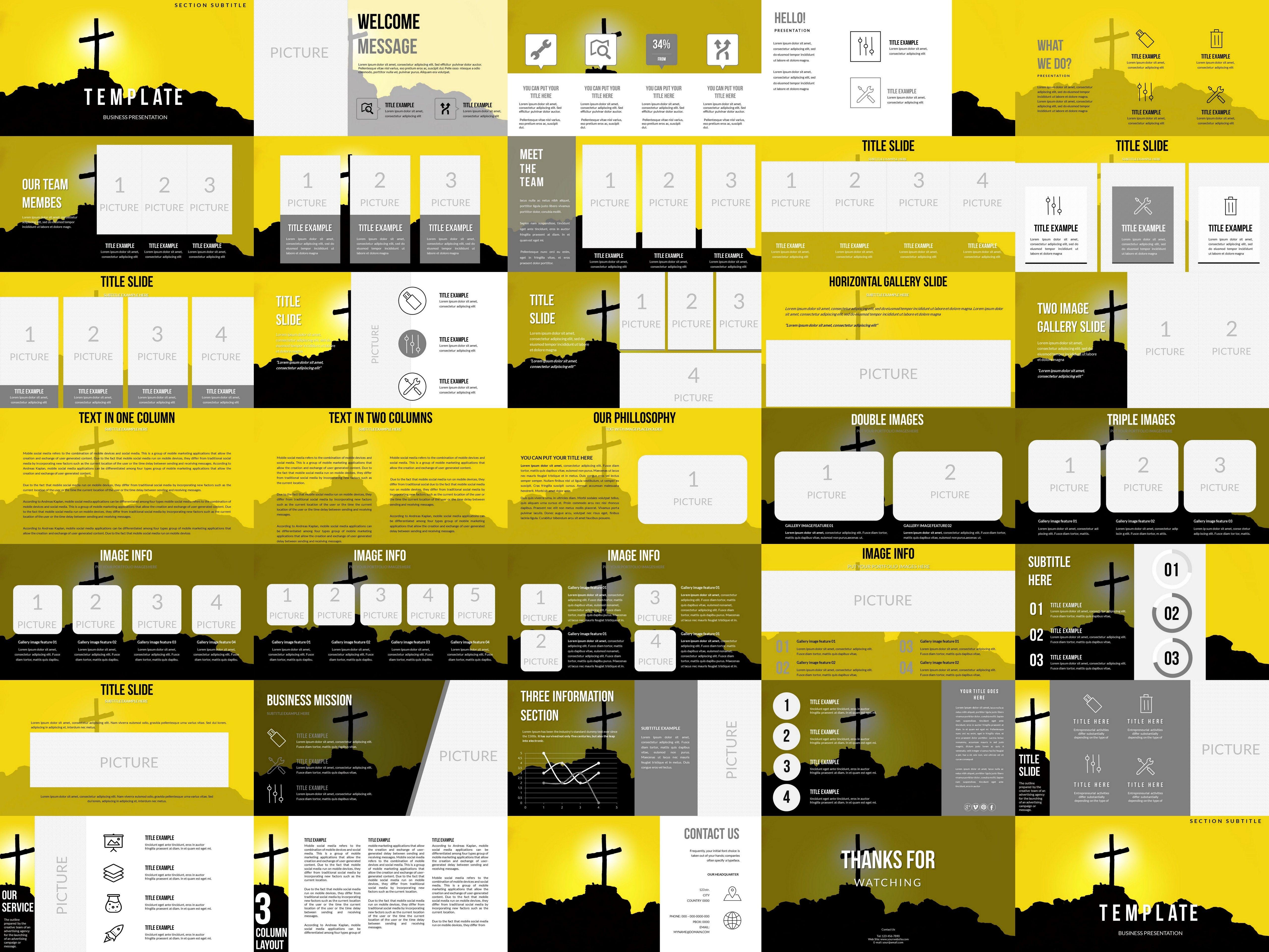 Cross on Hill PowerPoint templates