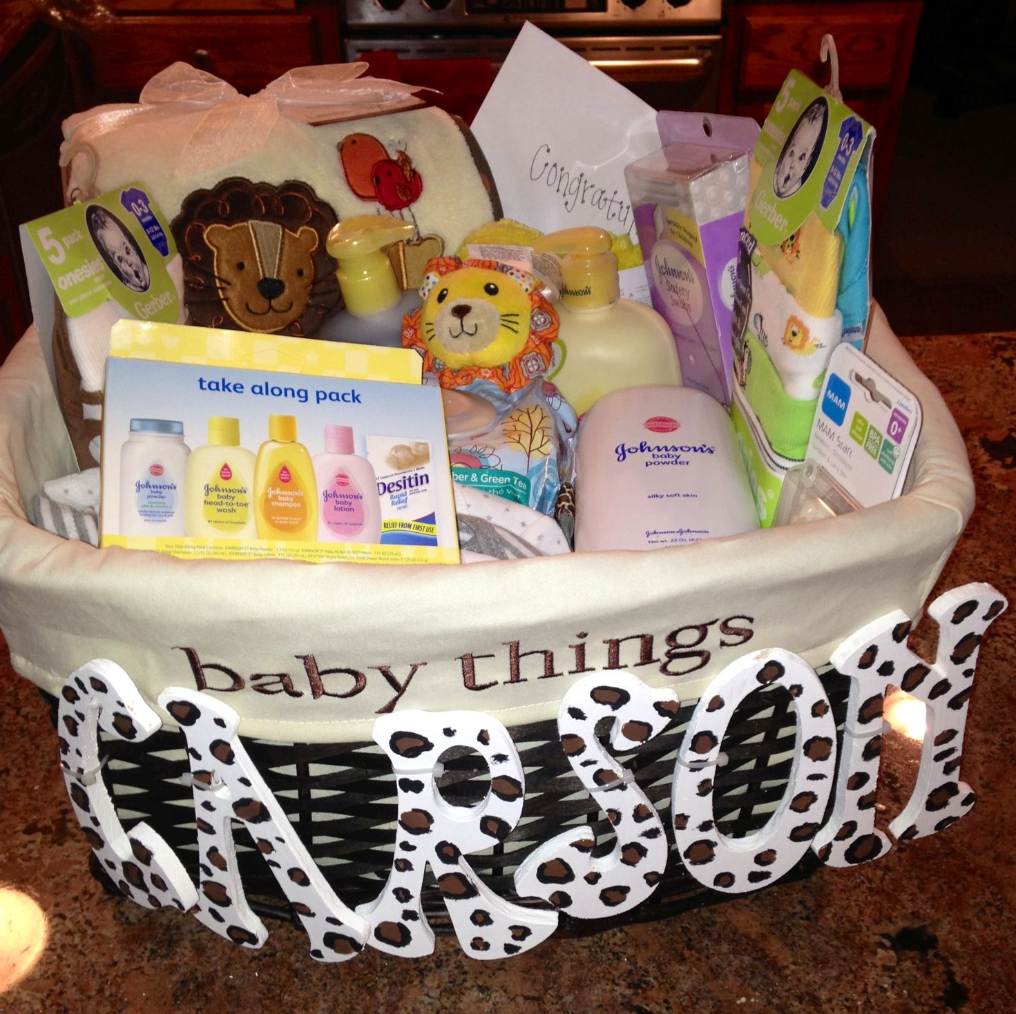 Baby shower gift i put together includes everything the