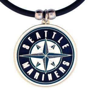 MLB Seattle Mariners Rubber Cord Necklace