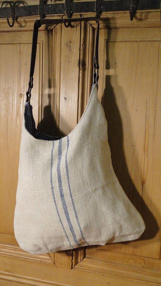 Antique European Grain Sack Tote Bag Book Ipad Purse 4420 Followitfindit